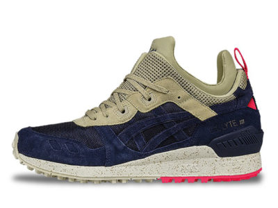 Кроссовки Asics Gel Lyte 3 MT замша-ткань темно-синие с бежевым